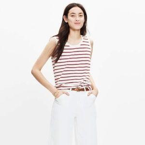 Madewell Striped Cotton Tank Size Medium